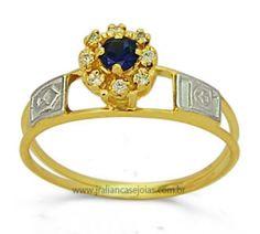 Anel de Formatura Feminino - Ouro 18k – 0,750 Jewels, Engagement Rings, Inspiration, Design, Wedding Bands, Bracelets, Ear Rings, Anklets, Neck Choker