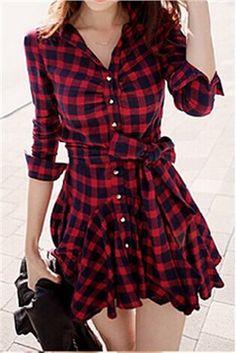 Robe Courte en Vogue Noir et Rouge