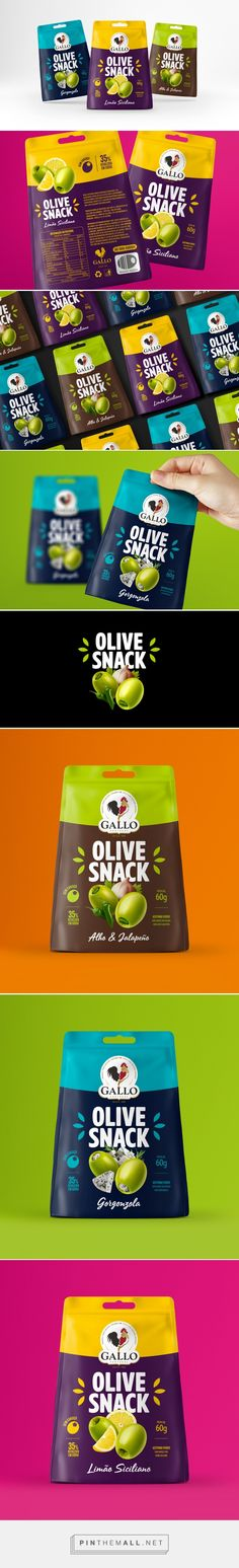 Gallo Olive Snack on Behance. - a grouped images picture - Pin Them All Packaging Snack, Cool Packaging, Food Packaging Design, Bottle Packaging, Packaging Design Inspiration, Brand Packaging, Innovative Packaging, Branding, Chocolate Packaging
