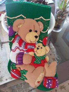 Completed Feltworks Dimension Teddy Bear by susanmarieuponastar, $70.00