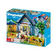 Playmobil dyreklinik 4343 hvor du kan sende dine kære kæledyr til undersøgelse og omsorgsfuld behandling. City Life, Pony, Barn, Playmobil, Pet Dogs, Pony Horse, Converted Barn, Ponies, Barns