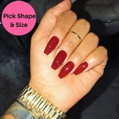 Press On Red Acrylic Nails - Peach color - Set of 10 - Any Shape and Size - Gel Polish - Comes with Glue in 2020 Bright Summer Acrylic Nails, Red Acrylic Nails, Acrylic Nail Designs, Purple Nails, Red Nails, Gel Nails At Home, Nail Sizes, Nagel Gel, Press On Nails