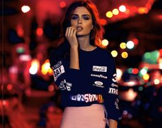visual optimism; fashion editorials, shows, campaigns & more!: night vision: josephine skriver by nicole heiniger for elle brazil january 20...