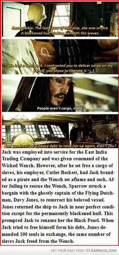 The Back Story To Jack Sparrow.