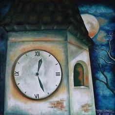 Time Tower by Peter Ghetu Framed Prints, Canvas Prints, Art Prints, Oil On Canvas, Saatchi Art, Original Paintings, Tower, Artist, Photo Canvas Prints