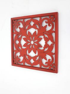 Reflecting elegant and mysterious ancient charm, Teton Home Vintage Red Floral Wall Plaque is an ideal complement to your home or office settings with. Asian Wall Decor, Fish Wall Decor, Wooden Wall Decor, Wall Decor Set, Flower Wall Decor, Wood Wall, Wall Décor, Wall Art, Fetco Home Decor