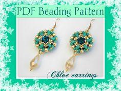 'Chloe' earrings. Pattern available here:  https://www.etsy.com/it/listing/164385924/schema-perline-orecchini-chloe-pdf
