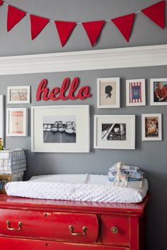 My kid's nursery is on apartment therapy today! Now if only he would arrive!!!...    Benjamin's Marvelous Mish-Mash