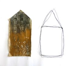 something about houses. mixed media on cloth and wire. Ines Seidel