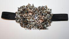 Cheetah Shabby Headband by OnceUponATimeAR on Etsy, $6.00