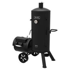 Dyna-Glo Heavy-Duty Vertical Offset Charcoal Smoker and Grill at Lowe's. Get the best of both worlds with the Signature Series heavy-duty vertical offset charcoal smoker and grill from Dyna-Glo. This multi-functional smoker Cooking For A Group, Cooking On The Grill, Smoker Cooking, Best Portable Grill, Barbecue Smoker, Bbq Grill, Charcoal Smoker, Offset Smoker, Best Charcoal