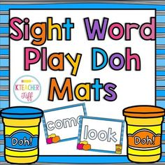 These sight word mats for making words with play doh are the perfect hands-on…