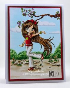 Galleries :: Design Team Inspiration - Digital & Rubber Stamps for Every Scene - Make it Crafty - page 38 Hand Made Greeting Cards, Making Greeting Cards, Funny Cards, Cute Cards, Hand Stamped Cards, Digi Stamps, Copics, My Stamp, Cardmaking