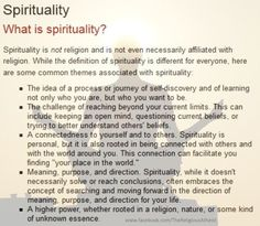 I've always believed that spirituality is personal not religious. This pretty much says it all for me!