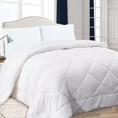 Alwyn Home Diamond Quilt All Season Down Alternative Comforter Size: Full/Queen King Size Comforter Sets, King Size Comforters, Bedding Sets, Double Twin, Diamond Quilt, How To Get Warm, Bedroom Styles, Bed Covers, Duvet Insert