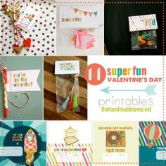 Freebies | the handmade home free printable valentines day cards and decorations