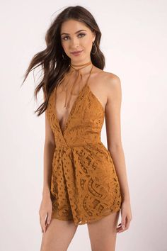 Promise Copper Lace Romper
