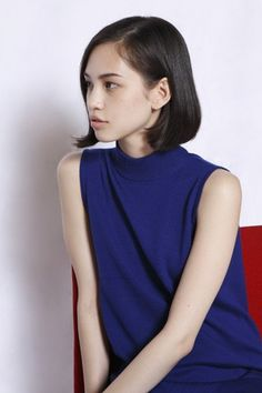 Kiko Mizuhara. I have this dress! Perfect with the hair.