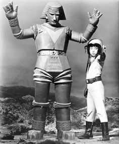 Giant Robo, known as Johnny Sokko and His Flying Robot in the United States, is a manga and tokusatsu series consisting of The English-dubbed version of the series was developed by Reuben Guberman. Vintage Robots, Retro Robot, Retro Vintage, Science Fiction, Japanese Monster, Sci Fi Tv, Old Tv Shows, Classic Tv, Godzilla