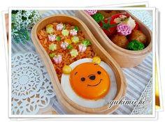 Fried egg Pooh bento