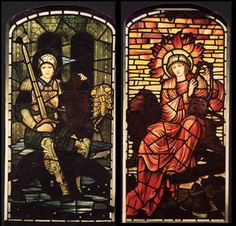 Burne Jones Sol and Mars Stained Glass Church, Stained Glass Lamps, Stained Glass Panels, Leaded Glass, Mosaic Glass, William Morris Art, Edward Burne Jones, Church Windows, Church Architecture
