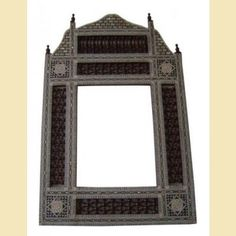 """Egyptian Style Mother of Pearl Mirror 33"""" tall"""