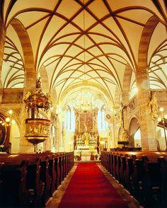 Interioir of the church of St.James the Elder, Česká Kamenice, Czechia