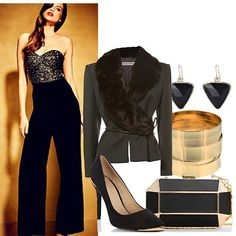 Black and Gold Partywear | Women's Outfit | ASOS Fashion Finder