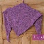 Simple luxury triangle scarf