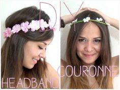 DIY │Fabriquer son Headband couronne de fleurs ▵ Alyssia - YouTube