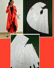 Full cloak skirt pattern with 3 layers and assymetry on front skirt. Order via line : (with - Salvabrani - Best Sewing TipsBest 11 Undertale Crochet – Most popular and and more – SkillOfKing.ComInteresting, but the excess collar was put together Frock Patterns, Designer Blouse Patterns, Dress Sewing Patterns, Sewing Patterns Free, Clothing Patterns, Free Sewing, Chudidhar Neck Designs, Kurti Neck Designs, Blouse Designs