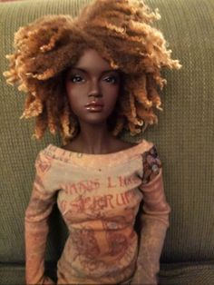 by [a bjd from Iplehouse (I think? African Dolls, African American Dolls, Diva Dolls, Art Dolls, Dolls Dolls, Beautiful Barbie Dolls, Realistic Dolls, Pin Up, Black Barbie
