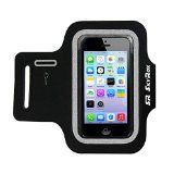 SkyRox iPhone 5 Armband- High Quality, Sweat Proof for iPhone 5/5C/5S- With Key Holder Pocket- Comfortable, Adjustable Custom Made Case- Protects Your Investment- Best for Sports Fitness, Running, Exercise, Workout- for Man and Woman by SkyR
