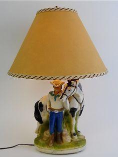 Mid Century Plasto Chalkware Western Cowboy by BarnandStonehouse, $129.00