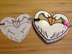 Swan Heart Cookie | Cookie Connection