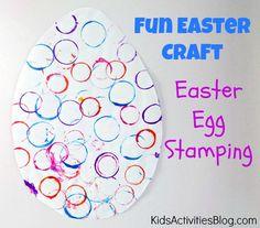 Make an Easter egg {Easter craft for preschool}... kids loved it! :)