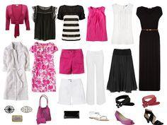 Holiday Capsule Wardrobe of Black, White & Pink