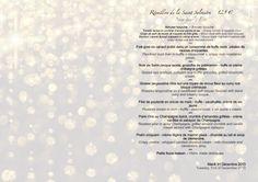Restaurant Le Mesclun Cannes France. Menu de Réveilon - New Year's Eve Menu