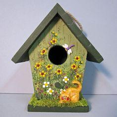 Spring Birdhouse. $7.99, via Etsy.