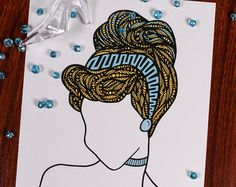 Zentangle mar cabello por ZenspireDesigns en Etsy