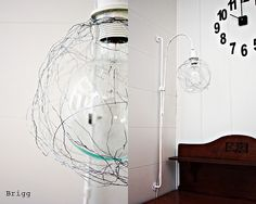 made from wire spun around  a balloon...