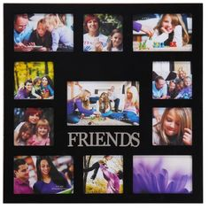 11 opening friends black wooden wall collage photo picture frame wall art holds 1 4x6