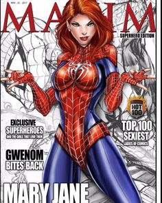 Mary Jane Maxim cover by Jamie Tyndall #Spiderman