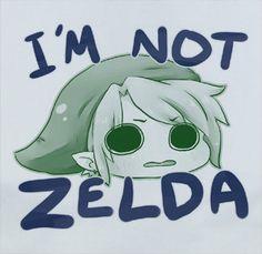 Soft Premium Quality Legend of Zelda I'm Not Zelda Link Funny Cute T-Shirt