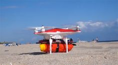 Rescue From Above: Inflating Float Ring Clips Onto Drone | Gadgets, Science & Technology