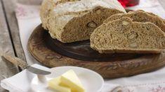 Nøttebrød Greens Recipe, Tin, Food And Drink, Baking, Recipes, Tin Metal, Bread Making, Patisserie, Rezepte
