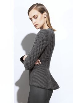 Iris Von Arnim Fall/Winter 2014. Great knit stitch design.