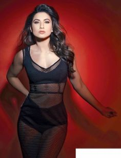 7c5a78b2b0c24 Gauhar Khan in sexy netted web she is wearing sexy lingerie   nighty  underneath.
