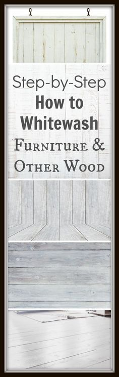 DIY Furniture Refinishing Tips - Whitewashing Furniture - Creative Ways to Redo Furniture With Paint and DIY Project Techniques - Awesome Dressers, Kitchen Cabinets, Tables and Beds - Rustic and Distressed Looks Made Easy With Step by Step Tutorials Furniture Projects, Furniture Makeover, Home Furniture, Kitchen Furniture, Furniture Plans, Diy Projects, Project Ideas, Furniture Direct, Furniture Stores