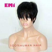 New brazilian hair wigs full lace front wigs human short hair 100 natural human cut hair glueless short wigs for black women